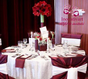 Set papetarie nunta alb rosu