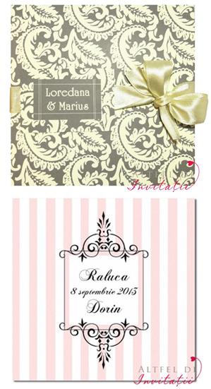 Cele doua modele de invitatii de nunta 2013 care au fost combinate pentru a crea o invitatie adorabila.