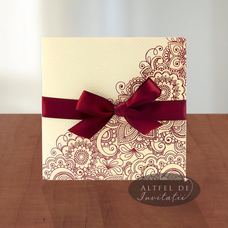 Invitatie De Nunta Viata In Roz Personalizata Cu Floarea Soarelui Si