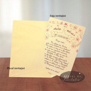 Invitatia de nunta Noi suntem cool in combinatia ivoire auriu sidefat este moderna si potrivita pentru o nunta cu stil, amuzament si pasiune - altfeldeinvitatii.ro