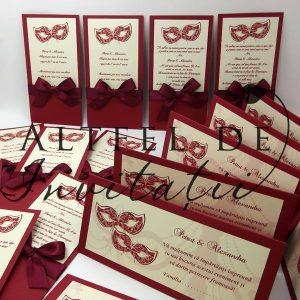 Invitatiile de nunta specifice temei venetiene sunt deosebit de frumoase, elegante si inspira veselie - altfeldeinvitatii.ro