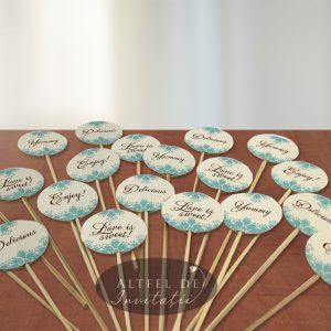 Stegulete rotunde candy bar folosite in decorarea platourilor cu dulciuri - altfeldeinvitatii.ro