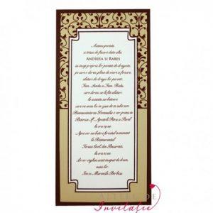 Invitatia de nunta Cairo are o grafica deosebita, imprimeul fiind de tip damask - altfeldeinvitatii.ro