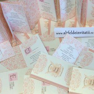 Invitatii de nunta Poveste de dragoste somon