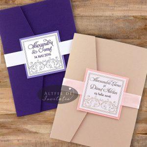 Invitatii de nunta Vis violet