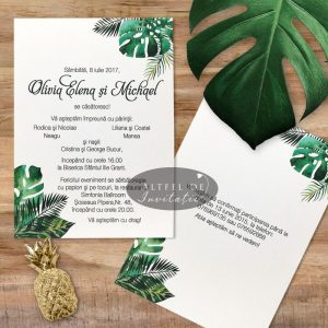 Invitatie de nunta Padure tropicala