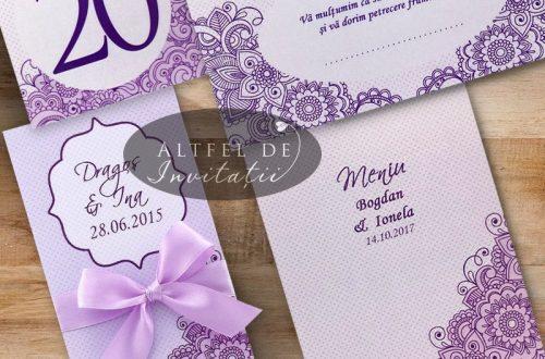Set complet papetarie nunta Legamant realizat din carton special premium
