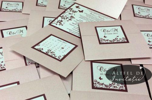 Invitatii de nunta CN1 Un nou inceput prevazute cu un atasament calendaristic ce macheaza data evenimentului