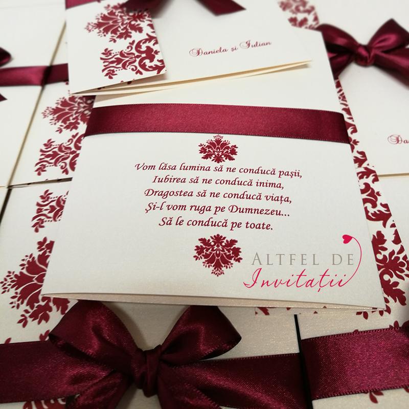 Invitatii de nunta Contraste personalizata