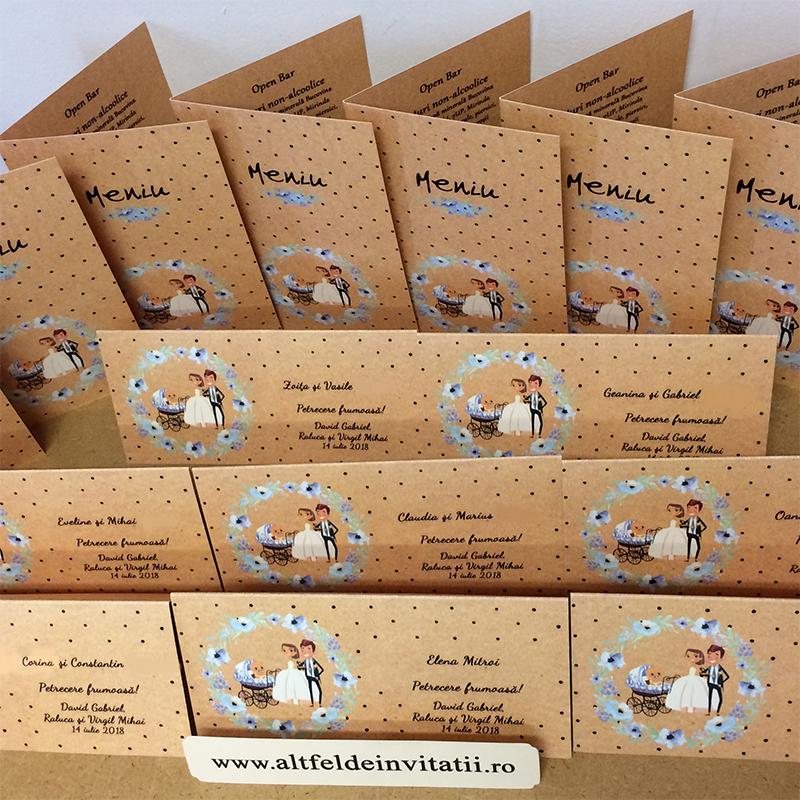 Papetarie personalizata pentru nunta si botez