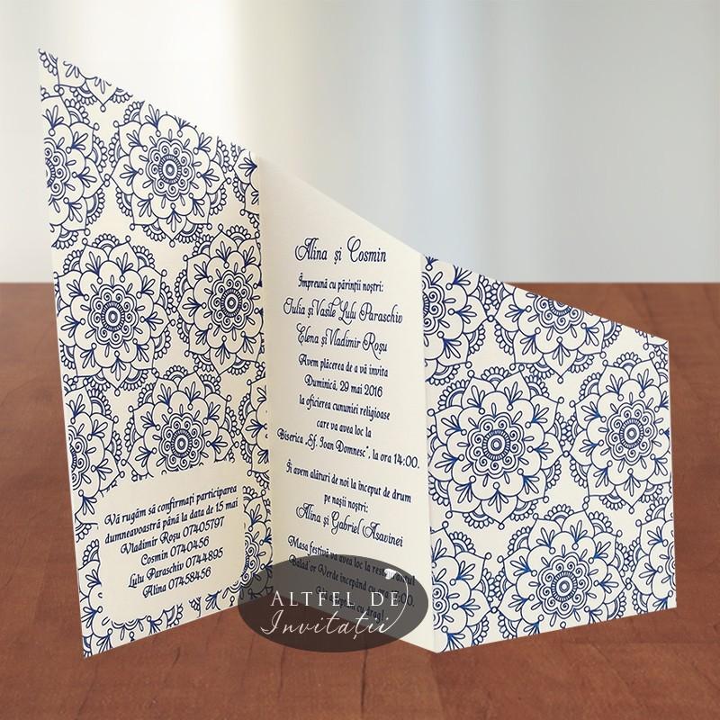 Invitatie de nunta personalizata Srabatoare