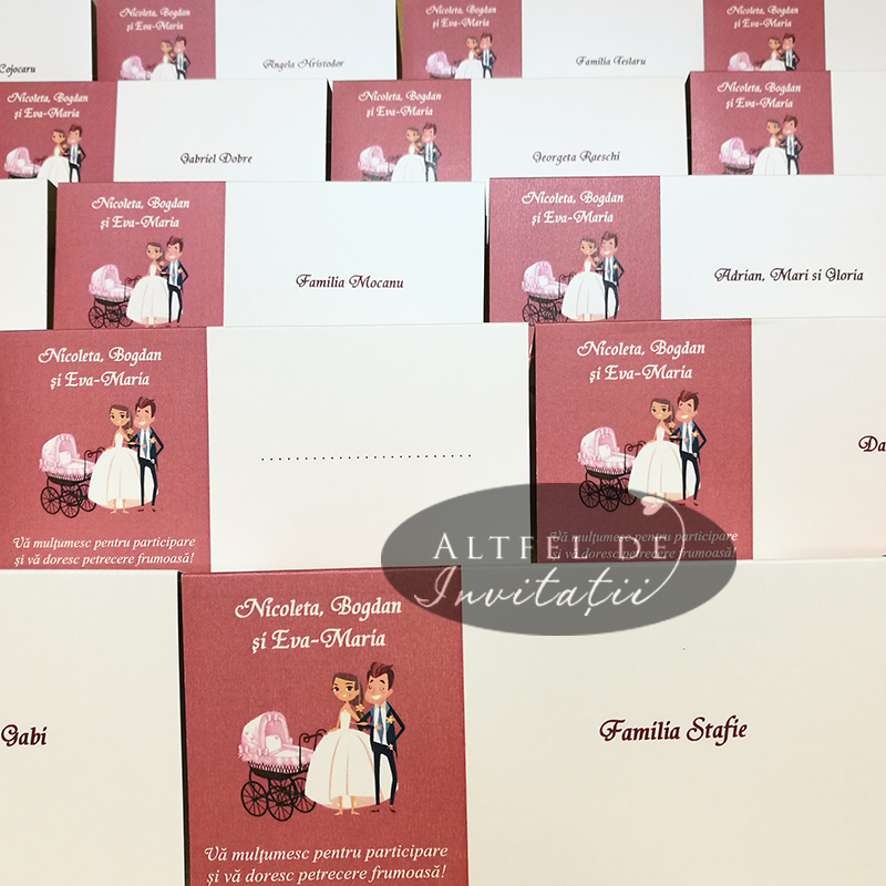 Place carduri de nunta si botez personalizate