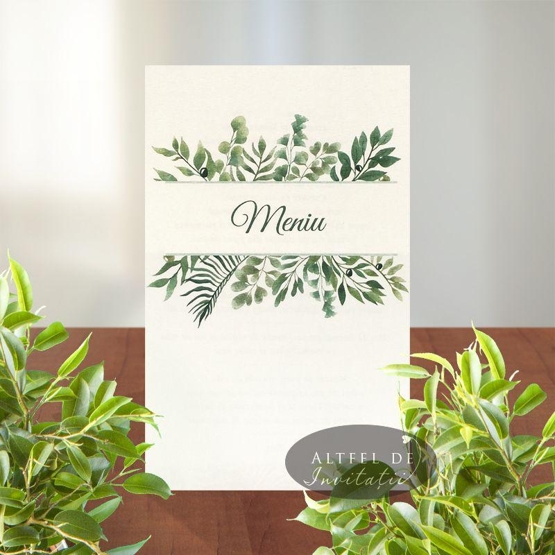 Meniu nunta personalizat