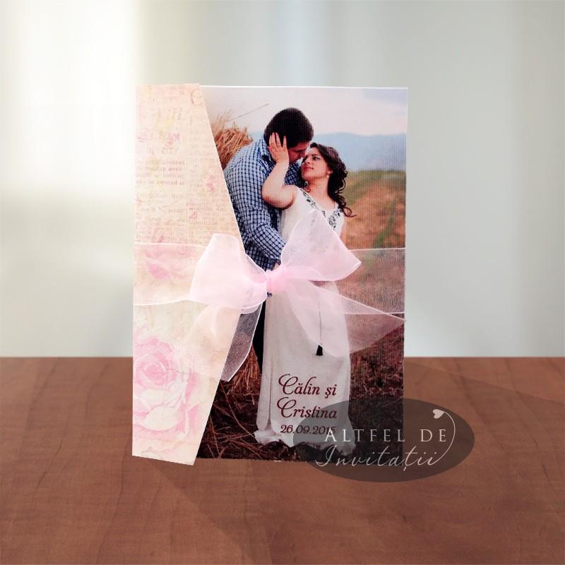 Invitatii de nunta personalizate cu fotografie