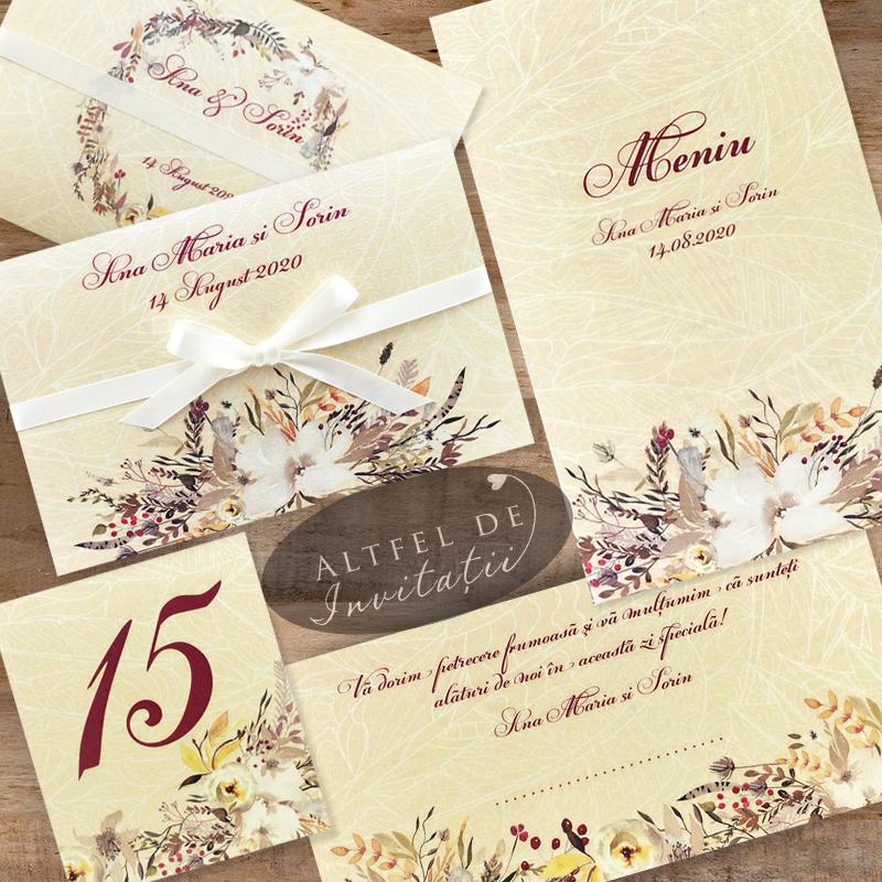 Seturi complete de papetarie pentru nunta