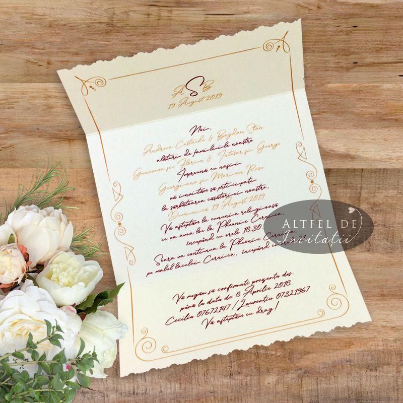 Invitatie de nunta personalizata cu sigiliu