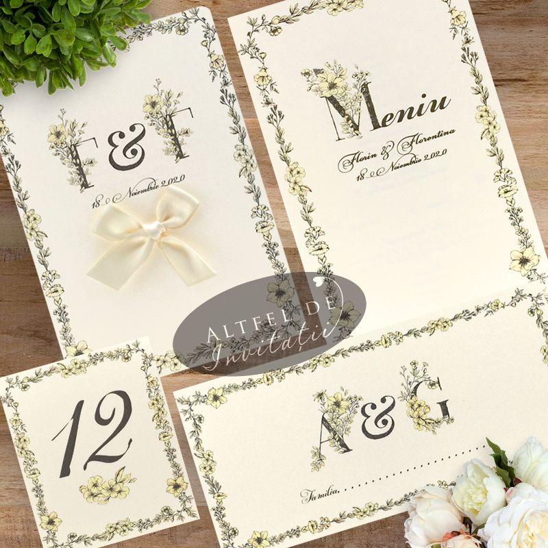 Set de papaterie nunta