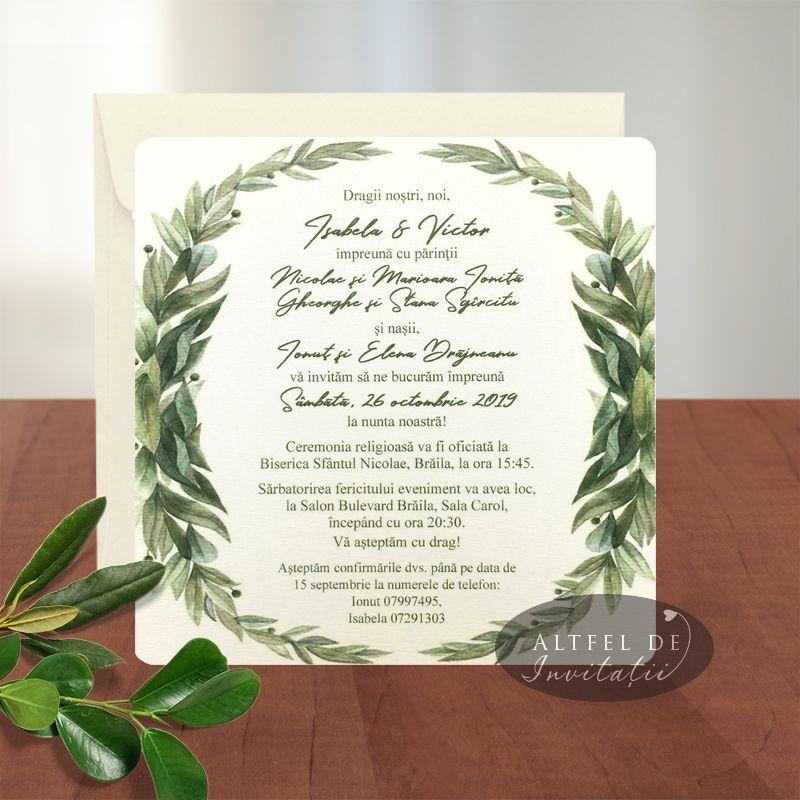 Invitatii de nunta persoanlizate