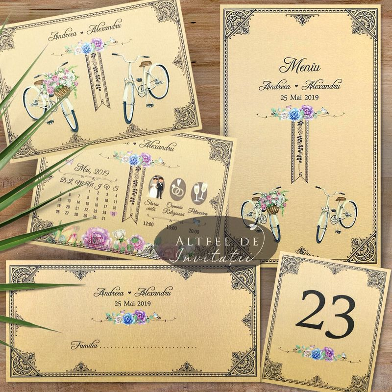 Set complet de papetarie pentru nunta personalizat