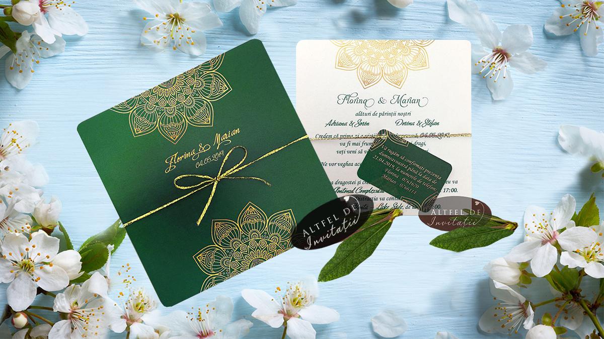 Invitatia Mandala verde e de neînlocuit indiferent de sezon