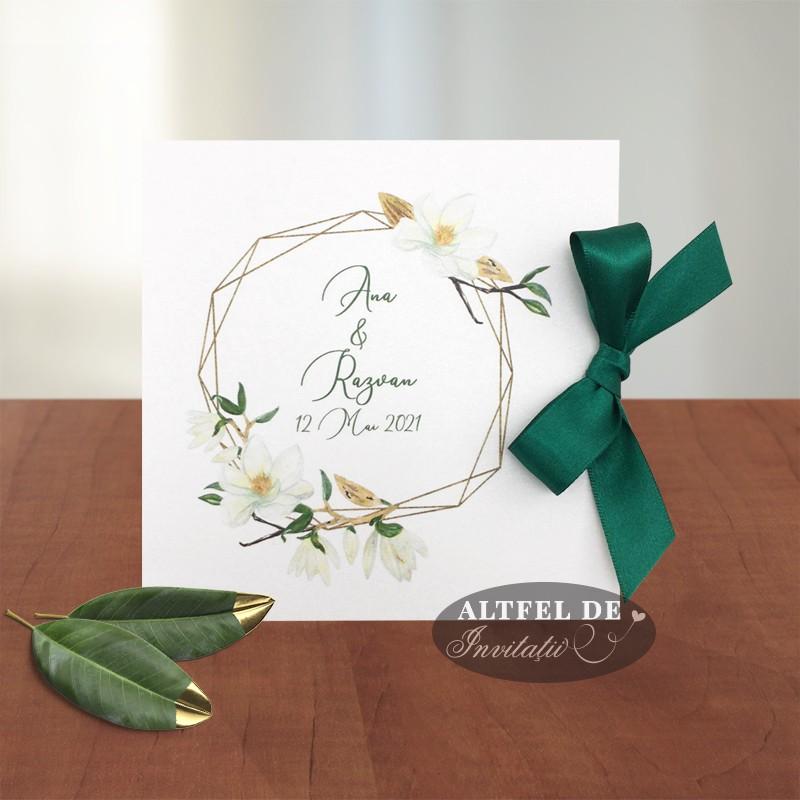 Invitatie de nunta deosebita Parfum de magnolie